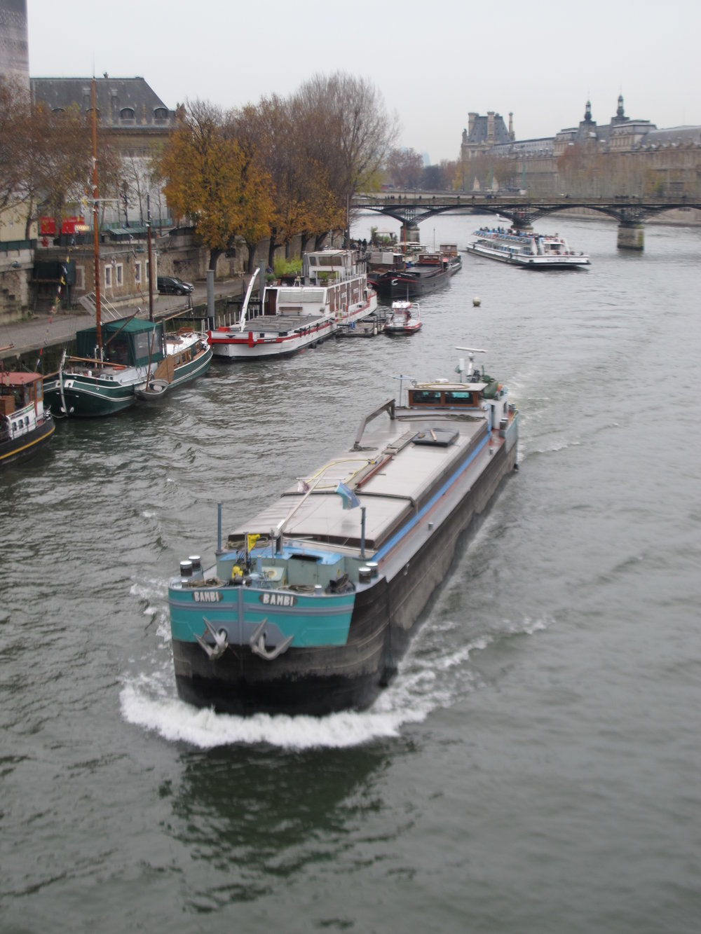 Peniche barge on the Seine Paris.JPG