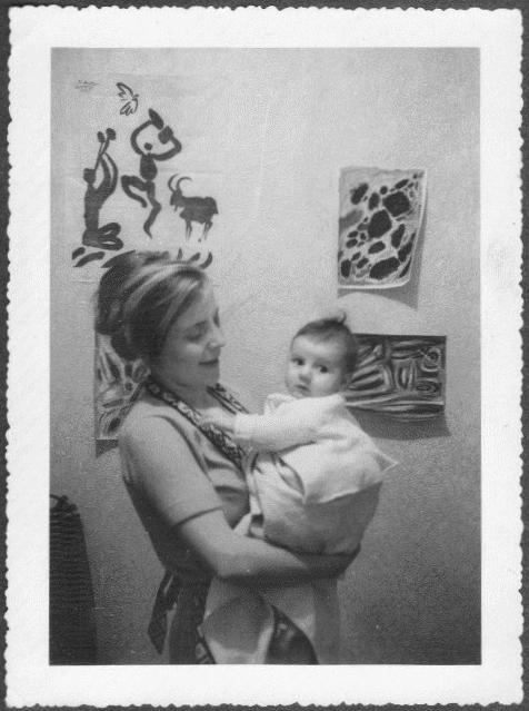Margot with Liz in Asnieres ca. 1960.