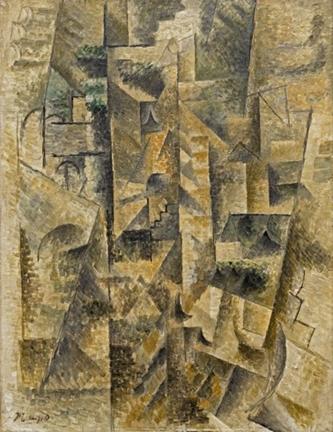 w333 Pablo Picasso, Landscape at Céret (Paysage de Céret), Céret, summer 1911.jpg