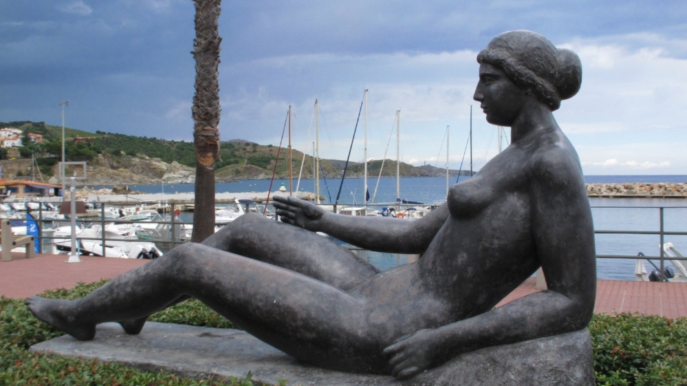 One of the many sculptures by Aristide Maillol in his hometown of Banyuls, where the Pyrenees Mountains tumble into the Mediterranean. Photo Elizabeth Kemble.
