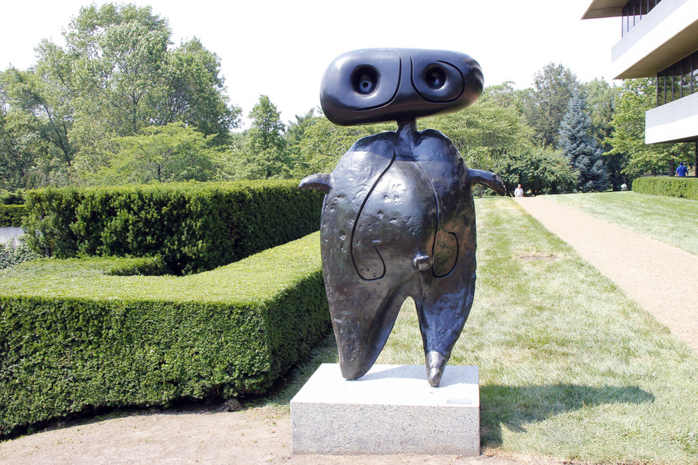 Personnage,  Joan Miro, PepsiCo Sculpture Garden, Purchase, NY.