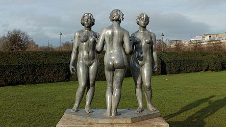 The Three Graces,  Aristide Maillol, Tuileries Gardens, Paris.
