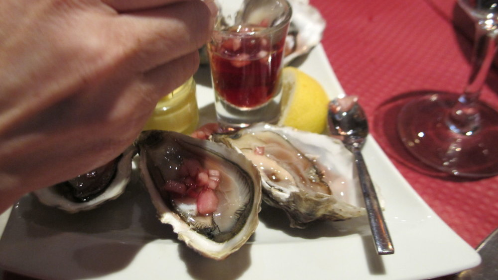 Oysters at our restaurant near the Paris Opera.