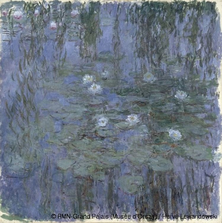 Blue Water Lilies, Claude Monet, 1916-1919 Musée d'Orsay.