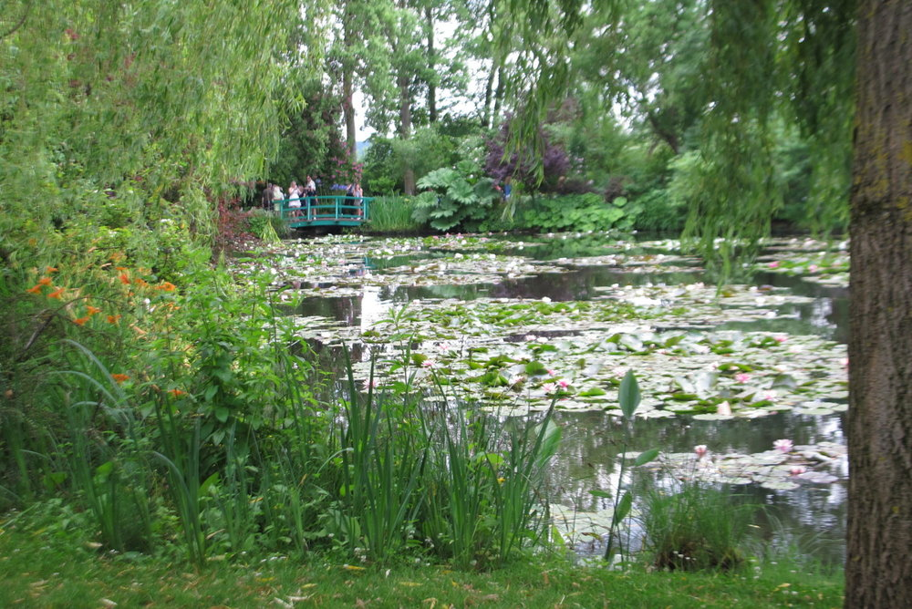 Long view of water lily pond at Giverny.