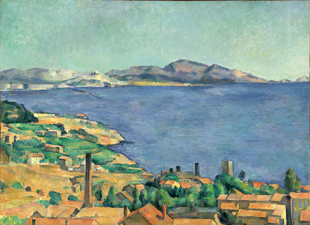 The Gulf of Marseilles Seen from L'Estaque, Paul Cézanne c1885, Musée d'Orsay.