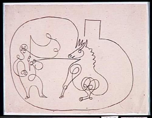 Horse and Trainer, Pablo Picasso, November 1920, Musée Picasso, Paris.