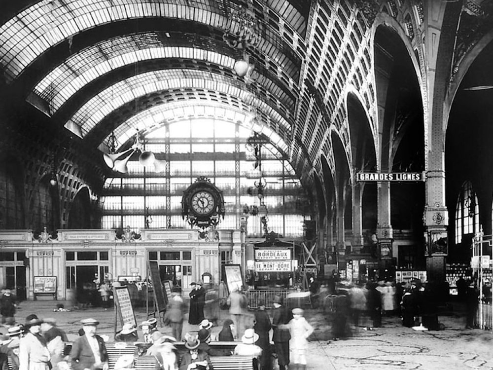 "The Gare d'Orsay, the train station from which Jake Barnes left Paris in Hemingway's novel, ""The Sun Also Rises."""