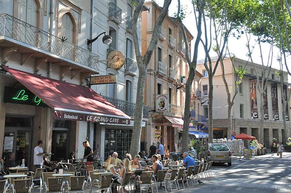 The Grand Café in Céret where Picasso and his gang used to hang out, just down the street from the Modern Art Museum.