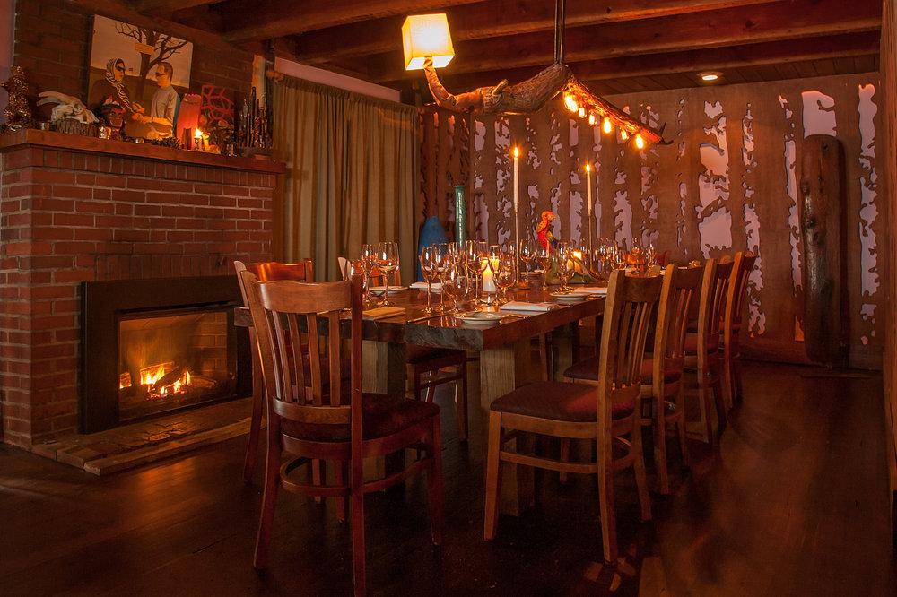 Peekamoose Restaurant private dining room, Shandaken, NY.