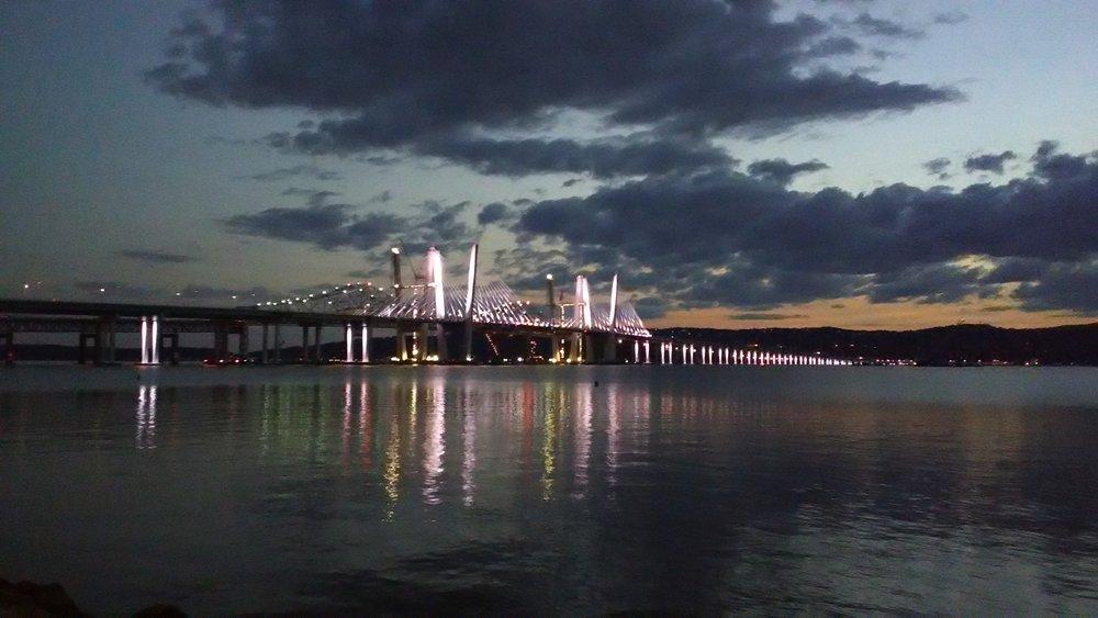 The new Tappan Zee Bridge, which we'll be crossing twice. Photo Elizabeth Kemble.
