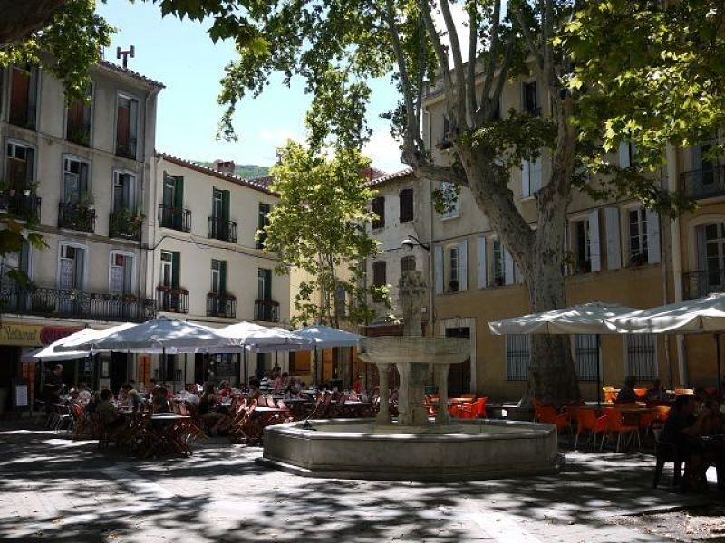 The Place des Neufs Jets (Square of the Nine Spouts), Céret, France
