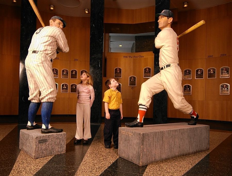 Inside the National Baseball Hall of Fame and Museum in Cooperstown.