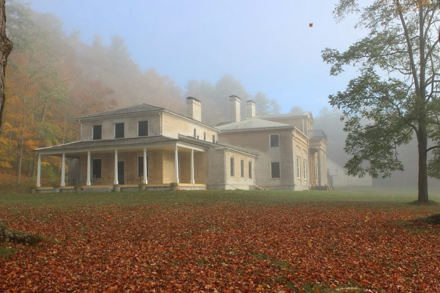 Hyde Hall on the banks of Otsego Lake in Cooperstown.