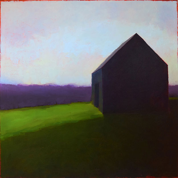 Shadowland (2016), Tracy Helgeson.Oil on wood panel.