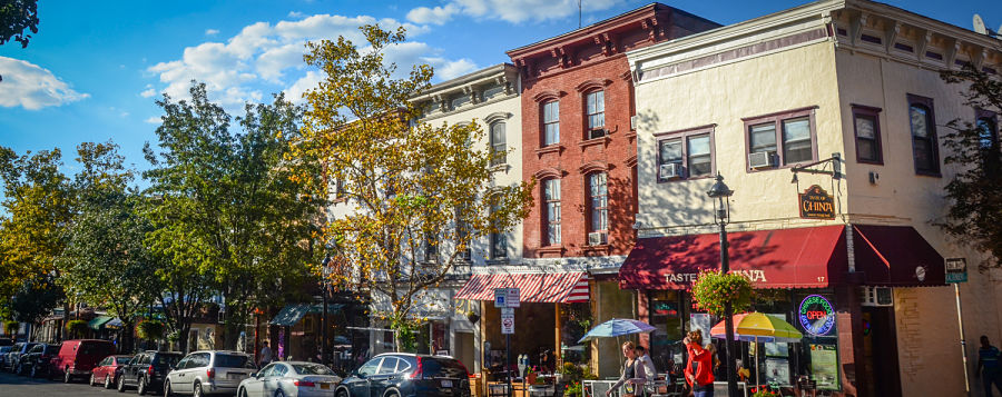 Historic Main Street in Tarrytown, NY.