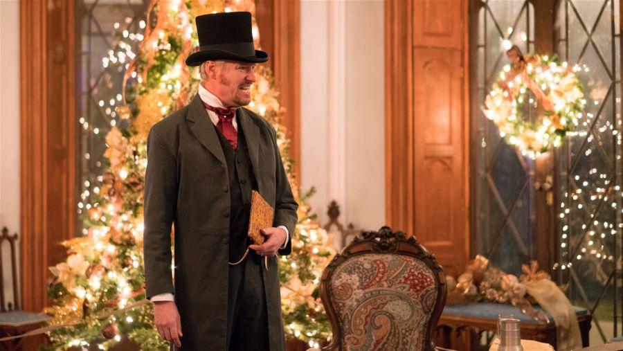 Dueling Dickens, Batman!  Mr. Dickens Tells a Christmas Carol  at Lyndhurst in Tarrytown. Photo Lyndhurst.org.