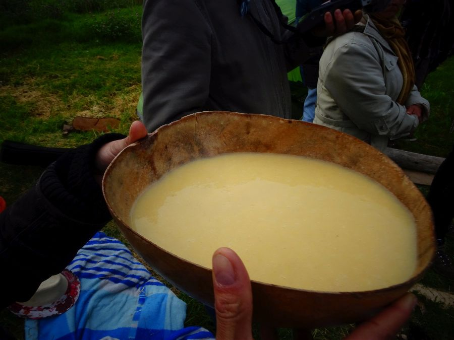 "Chicha served at the ""Fiesta del Huán"" at the Archaeology Museum of Sogamoso, Boyacá, Colombia. Photo: Tisquesusa."