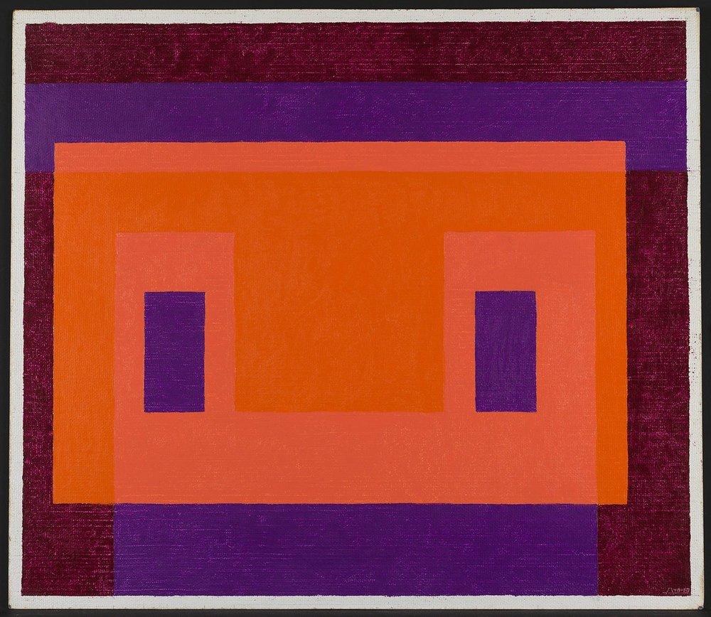 Variant/Adobe, Orange Front, Josef Albers, 1948–58. The Solomon R. Guggenheim Foundation.
