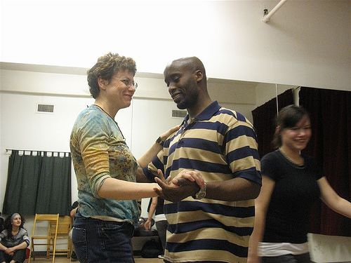 A blues dance lesson with Kephram in New York City ca. 2010.