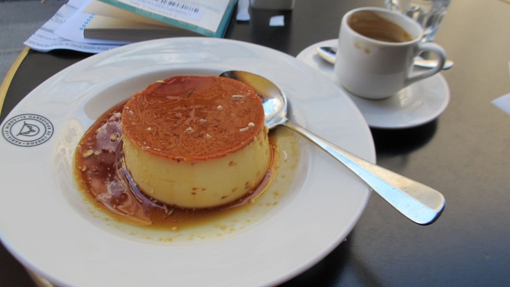 A crème caramel just like Mom used to make at a café in the Saint Germain des Prés area of Paris.