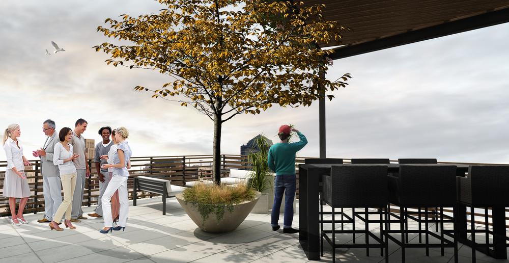 Mangum Flats Condo Roof Deck View