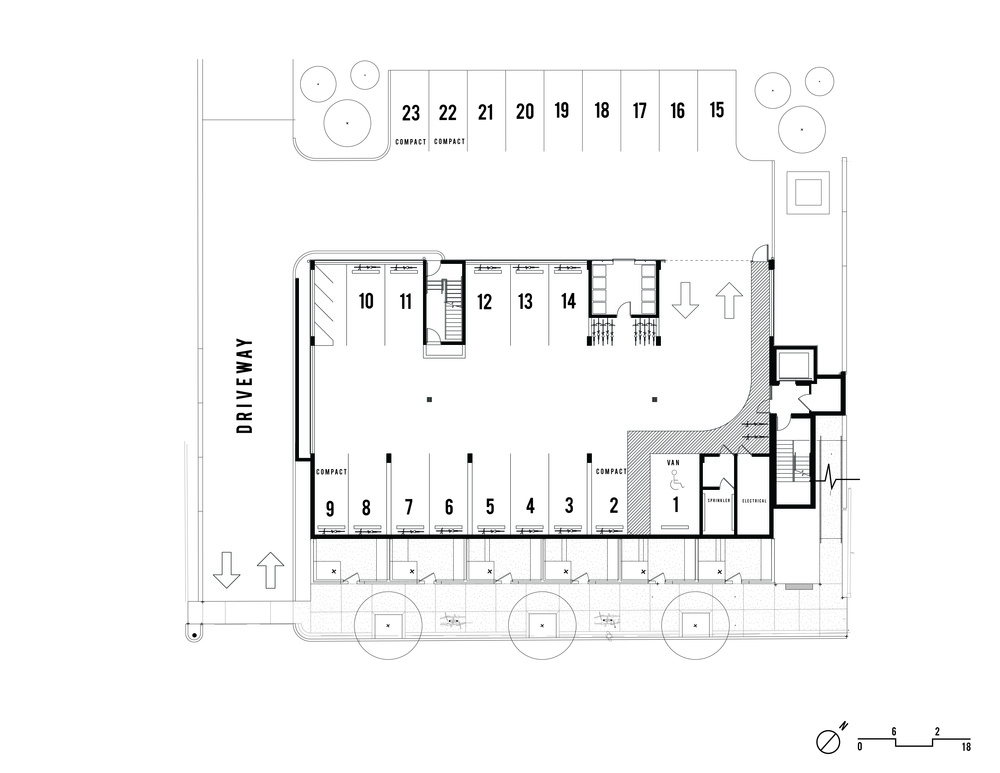 Basement parking plan images House plan with basement parking