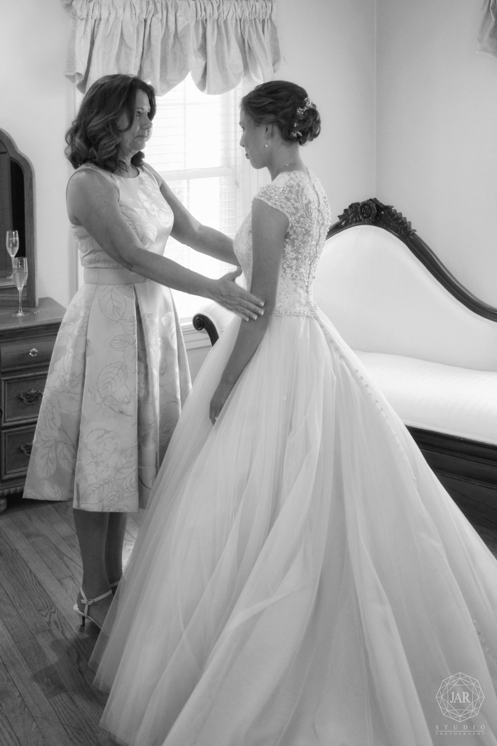 Bride and mom beautiful moment Orlando photographer