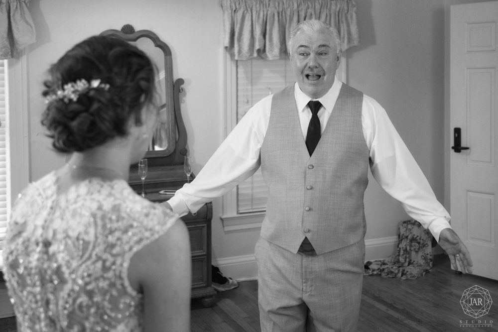 father of the bride first look Orlando wedding photographer
