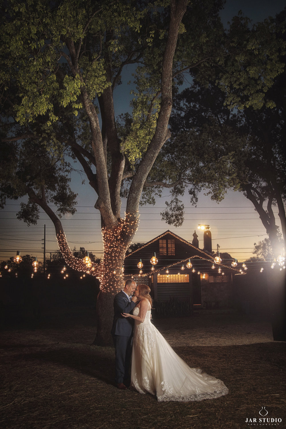 romantic sunset wedding near orlando fl