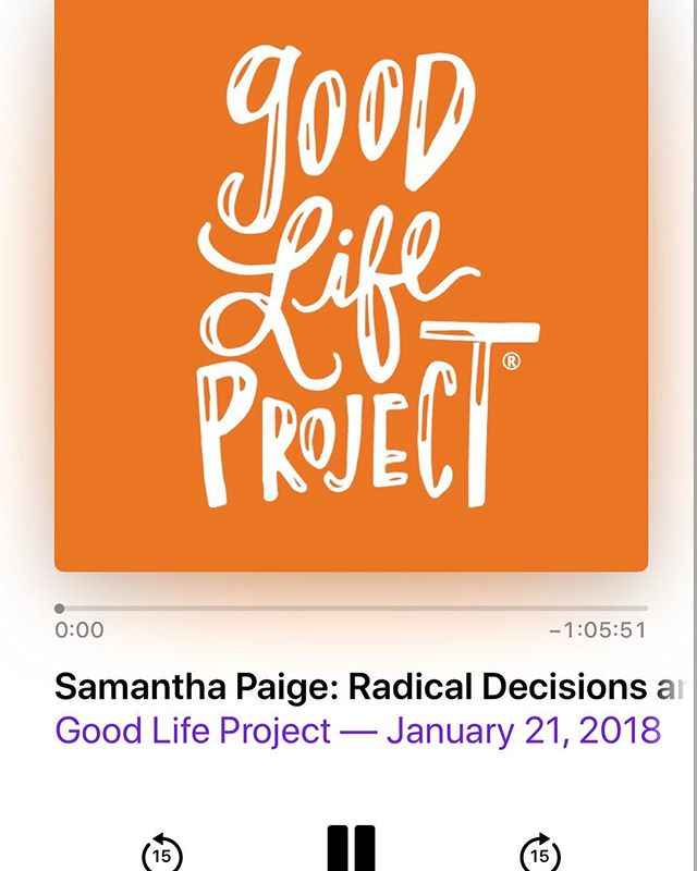 A beautiful listen about learning to trust yourself, to love yourself and how trauma lives in our bodies. Add this to your next up. Thank you for your vulnerability @lastcutproject. @jonathanfields ... #thegoodlifeproject #livingyourtruth #selflove #gutinstinct #trauma #cancersucks #love #thesturdylife