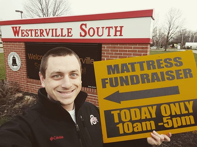 Westerville South Mattress Fundraiser TODAY from 10am to 5pm @westervillesouth Cafeteria. Park near the football stadium!  If you have any mattress in your home you could replace at least come check this out. The weather is beautiful!  @wshstheatre513 @wshsbands  #beds4south #mattress #westerville #westervillesouth #band #wildcats #mattressfundraiser #cfs #cfscolumbus #adjustablebed #pillow