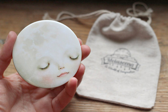 Sweet Moon Pocket Mirror from Meluseena