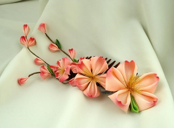 Little Cookie 's  Grand Sakura Kanzashi   ($90)