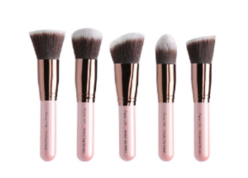 Luxie Beauty's Rose Gold Synthetic 5 Piece Kabuki Brush Set ($50)