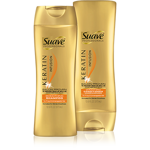 Suave Beauty 's  Keratin Infusion Smoothing Shampoo & Conditioner   (Prices varies by retailer but is typically less than $5)