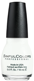 SinfulColors'Snow Me White(price varies by retailer)