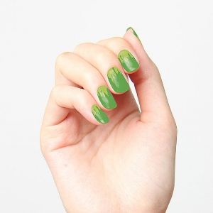 "Tattify   ""Green Tea"" Nail Wraps   ($12)"