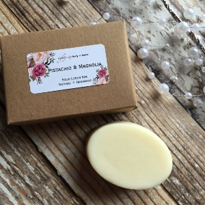 eightysixbodyhome 's  Pistachio & Magnolia Scented Solid Lotion Bar   ($9)