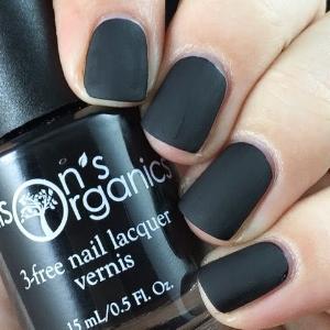 Ellison's Organics'  Matte Black Nail Polish  ($12)