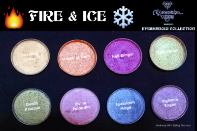 Makeup With Rising Phoenix  Fire & Ice  Eyeshadow Collection