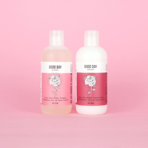Good Day Hairshop 's  Holy Rose Water Shampoo & Conditioner   ($35)