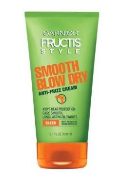Garnier   Fructis   Smooth Blow Dry Anti-Frizz Cream  (price varies by retailer)