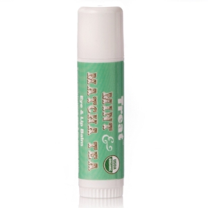 Treat Beauty   Jumbo Mint & Matcha Tea Caffeinated Organic Eye & Lip Balm   ($13.99)