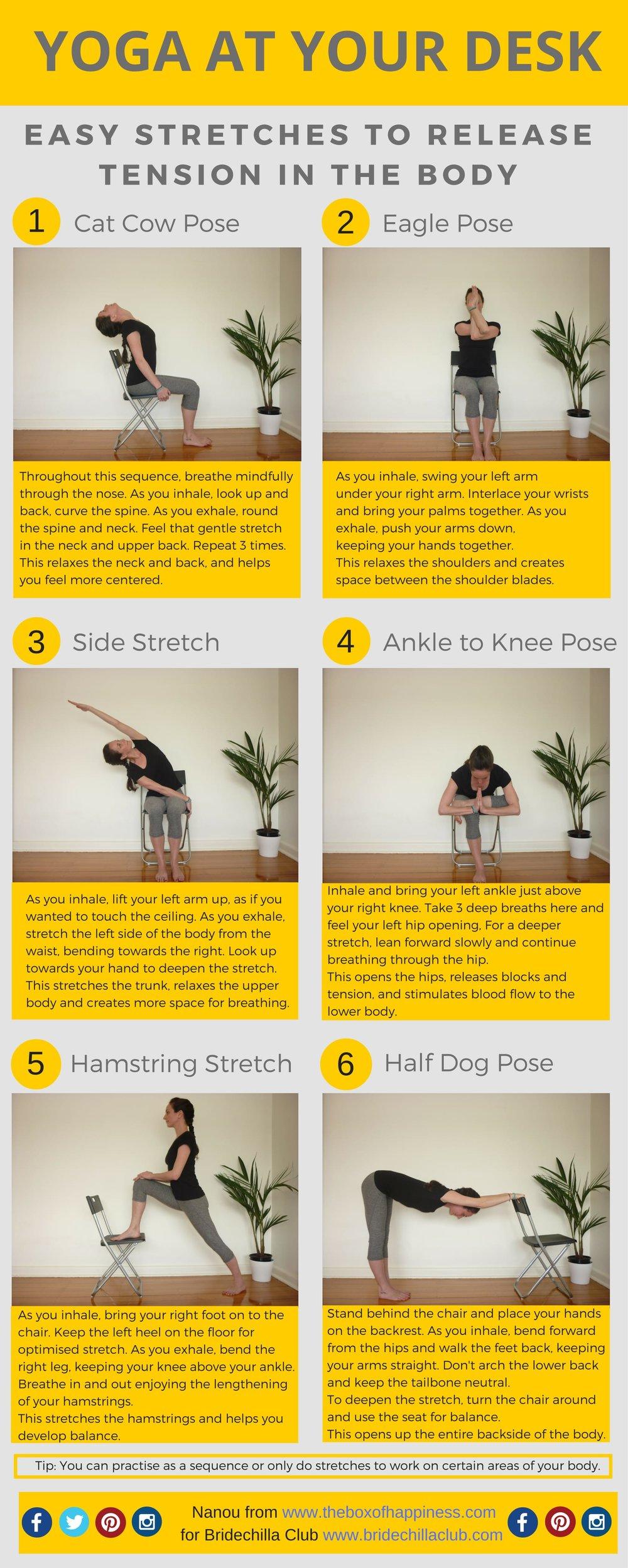 Bridechilla Club - desk yoga