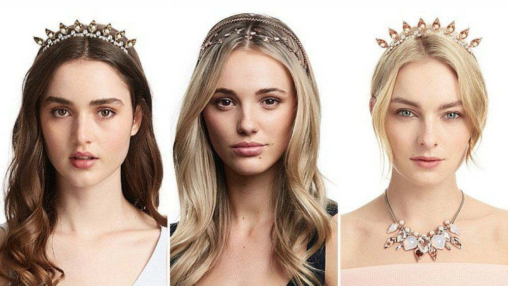 Modern grecian hair accessories by Mimco