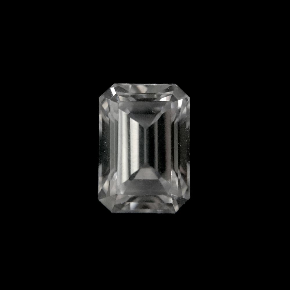Emerald Cut  Unlike the previous diamond shapes, emerald cut diamonds are step-cut. This gives the diamond a hall-of-mirrors effect. As the facets are larger in step-cut diamonds, we strongly recommend considering higher clarity grades when choosing this diamond shape. Asscher cut diamonds are square-shaped emerald cuts.