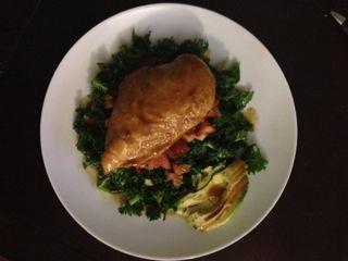 Anne's Glazed Chicken made by Firstborn Daughter.