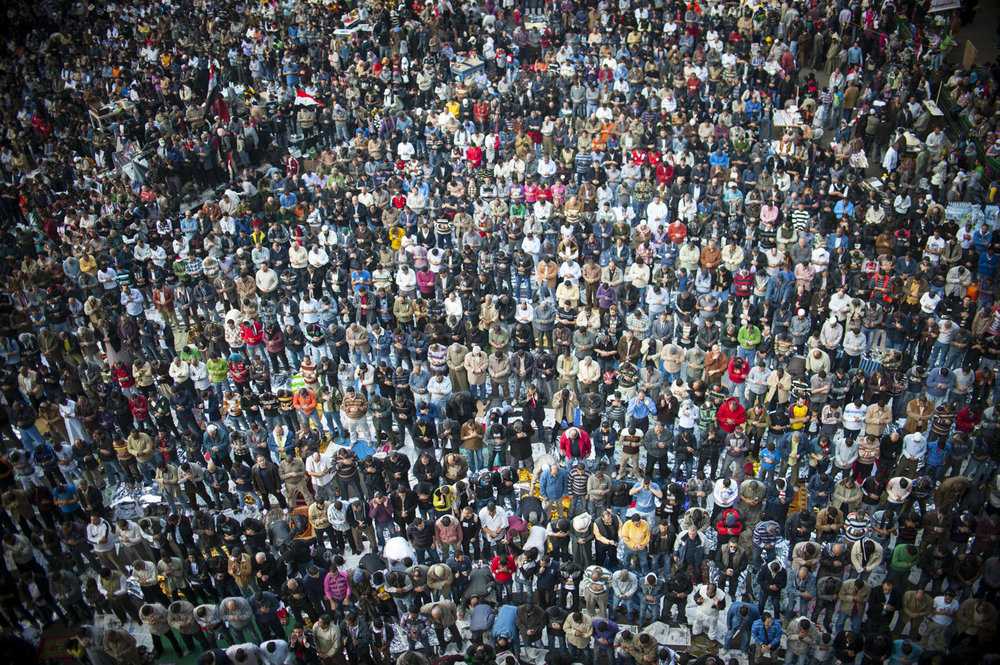 Friday prayers in Tahrir Square on November 25th, 2011.