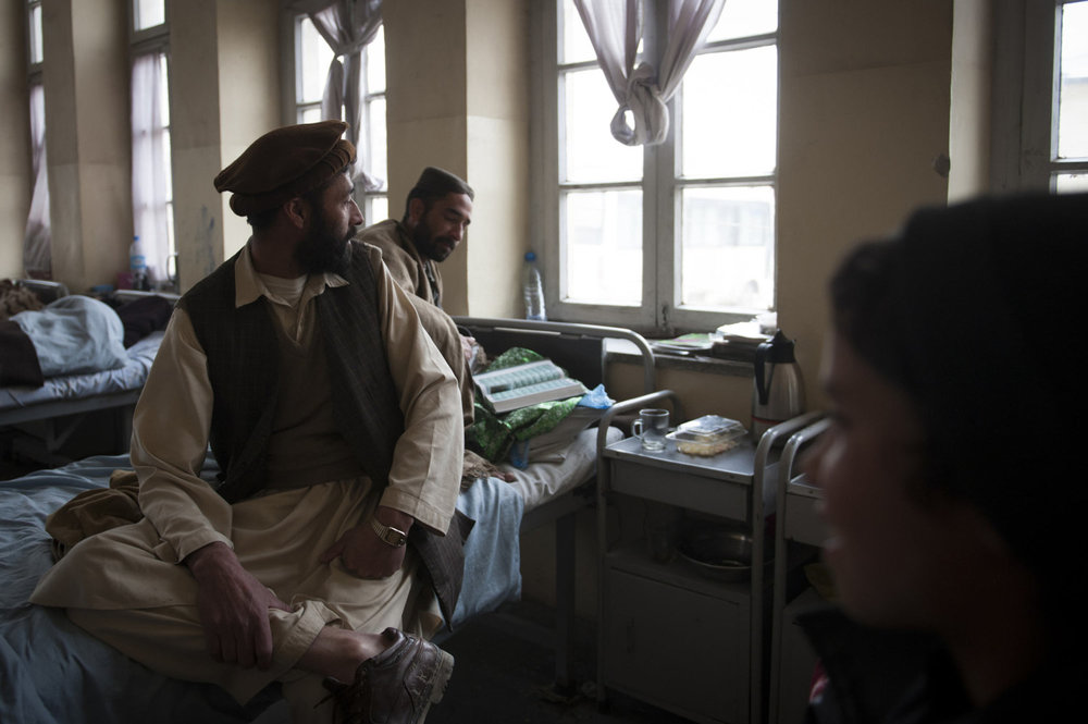 Patients at the Sahate Ravani Psychiatric Hospital in the Allhaudine section of Kabul.